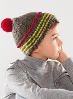 bonnet pompon 3 couleurs