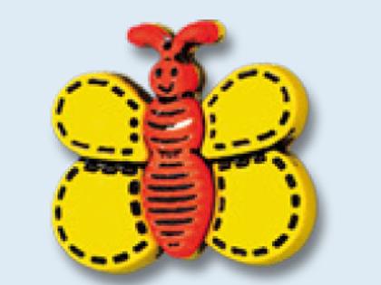bouton enfant en forme de papillon - 18 mm
