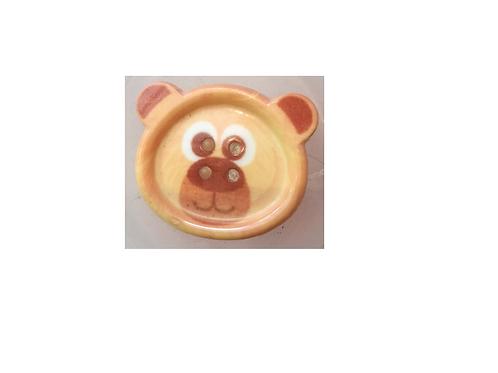 """Bouton enfant """"tête d'ours brun"""""""