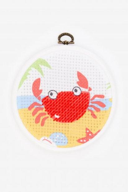 Kit broderie demi-point DMC - Crabe