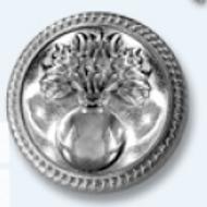 """Bouton blazer et marcheur """"GRENADE"""" - Or ou argent"""