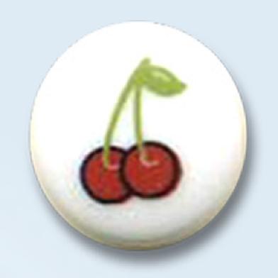 "bouton rond ""cerises"" - 14 mm"
