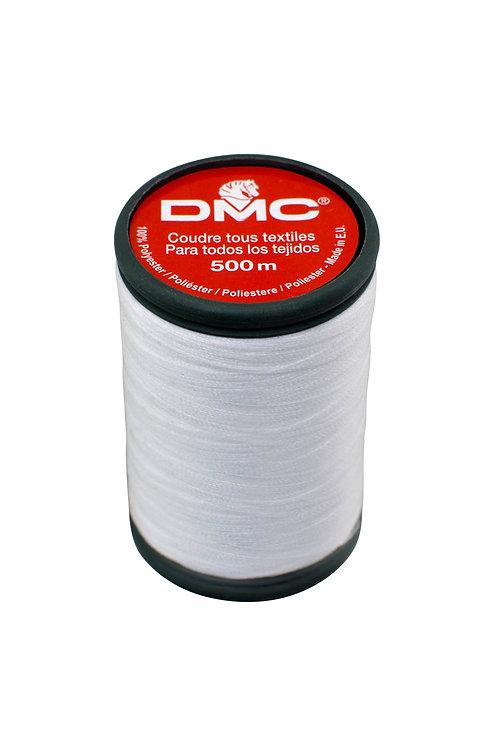 Fil à coudre 100% polyester - 500 mètres - Blanc