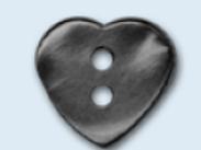 Bouton enfant en forme de cœur - 13 mm