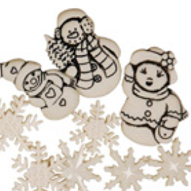"Sachet de boutons assortis ""hiver"""
