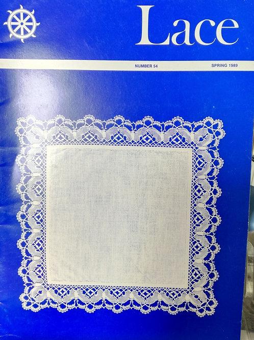 """Revue """"Lace"""" n°54 du Printemps 1989"""