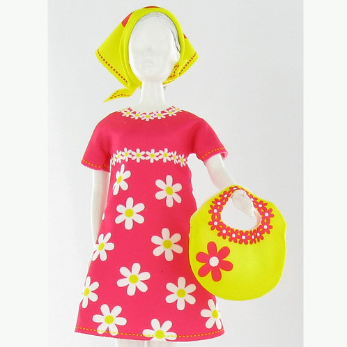 """Planche de vêtements pré-découpés """"Twiggy Daisy"""" Dress your Doll"""