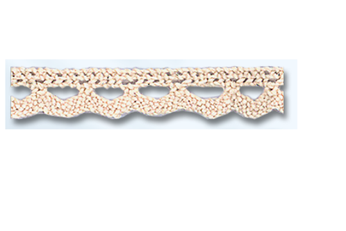 Dentelle en coton - Ecru - 11 mm