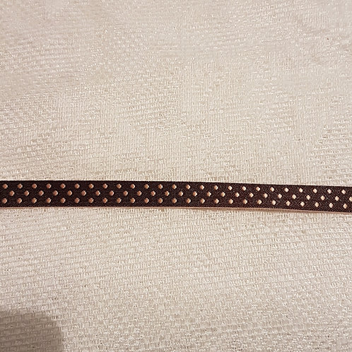 Petit ruban satiné à petits pois - 9 mm