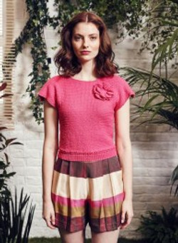 pull ss manches framboise