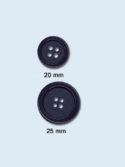 Bouton teint dans la masse - 20 et 25 mm