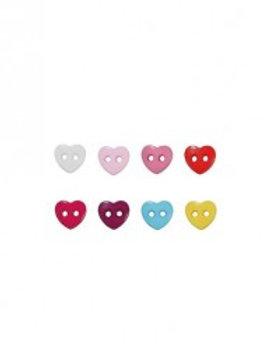 "6 boutons ""cœur"""