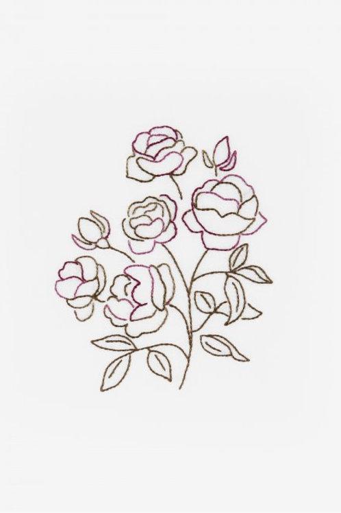 """Mini-kit """"Roses"""" en fils Coloris"""