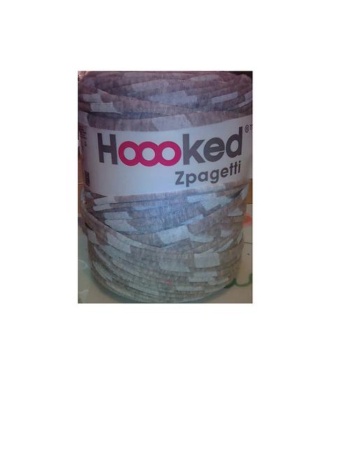 Pelote Hoooked Zpagetti - gris et blanc