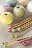 Aiguilles à tricoter droites DMC en bambou