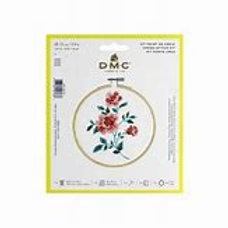 """Kit Point de Croix DMC - """"Roses"""" avec cerceau"""