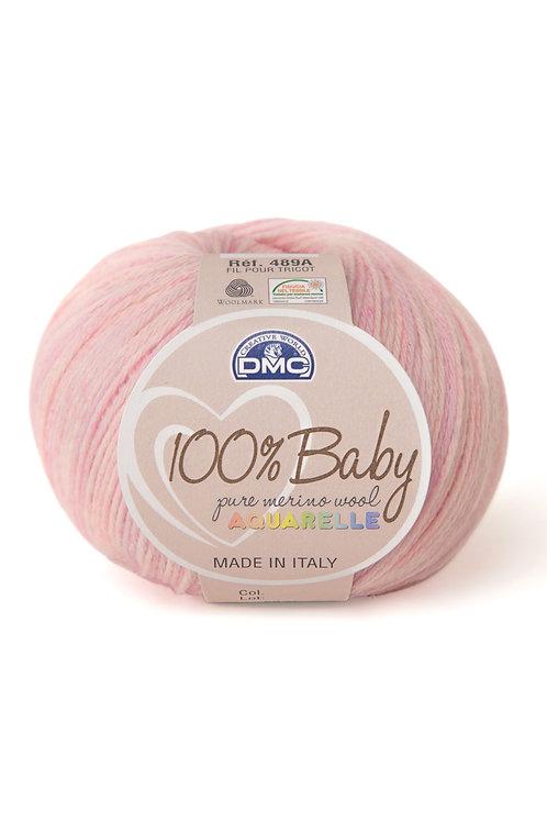 100% Baby Aquarelle - Rose