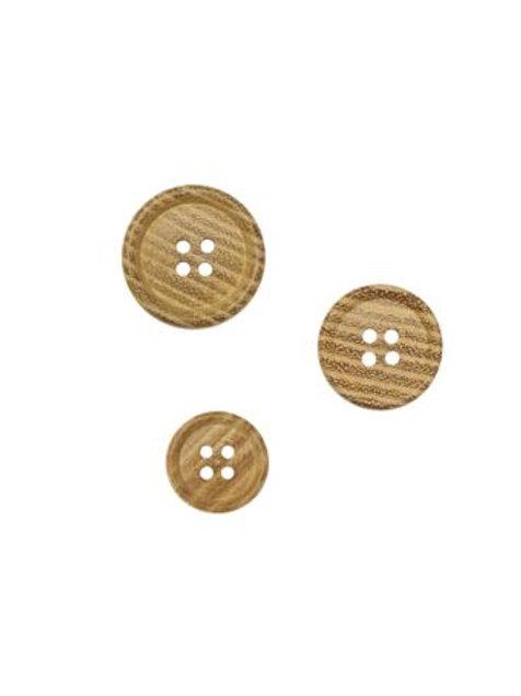 Lot de 6 boutons en acacia