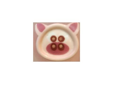 """Bouton enfant """"tête de cochon"""""""