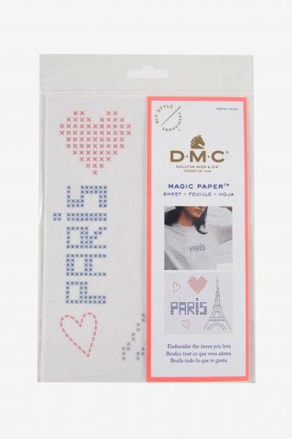 "Magic Paper (feuille soluble) DMC ""Paris"""