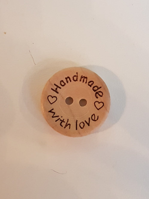 """Boutons en bois """"Handmade with Love"""""""