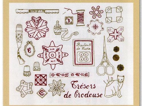 "Kit broderie traditionnelle ""Trésor des Brodeuses"""