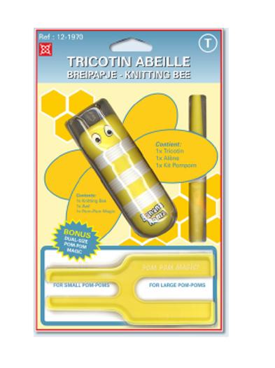 Tricotin abeille en plastique