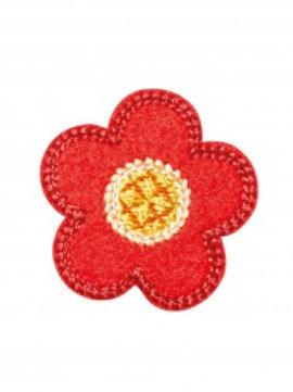 """Lot de 4 écussons """"fleur rouge"""""""