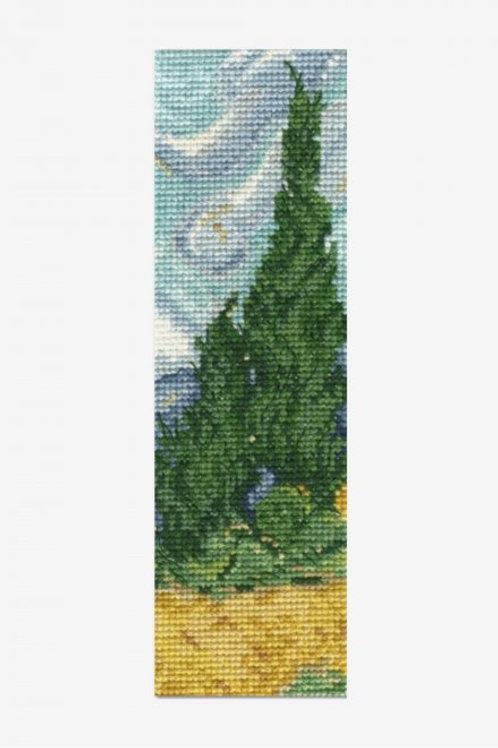 """Kit marque-page """"Champs de Blé aux Cyprès"""" de Van Gogh"""