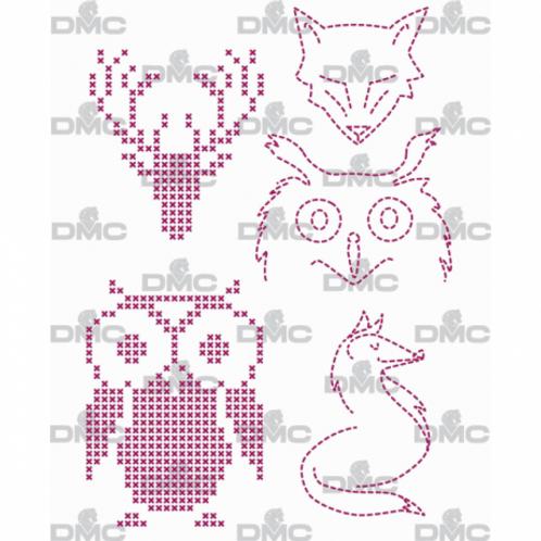 "Custom By Me feuille magique ""Animals Hiboux"""