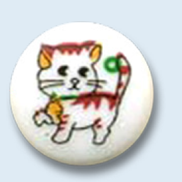bouton rond avec chaton ou éléphant - 14 mm