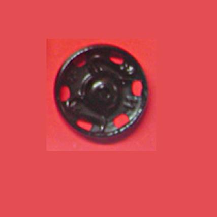 Boutons pressions à coudre métal noir - 15 mm