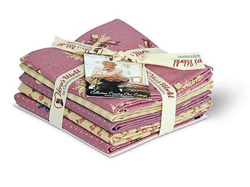 Lot de fat quarters Country Chic Cottage