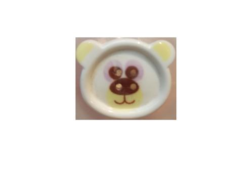 """Bouton enfant """"tête d'ours polaire"""""""