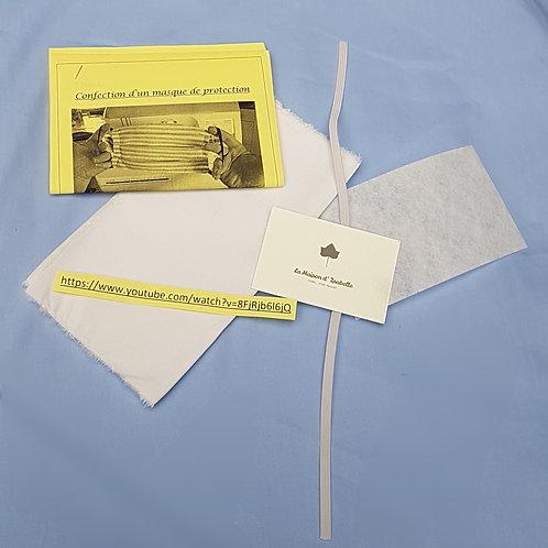 Kit complet de fabrication d'un masque de protection - (pré)ados