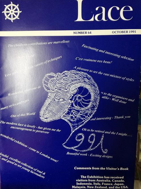 """Revue """"Lace"""" n°64 d'Octobre 1991"""