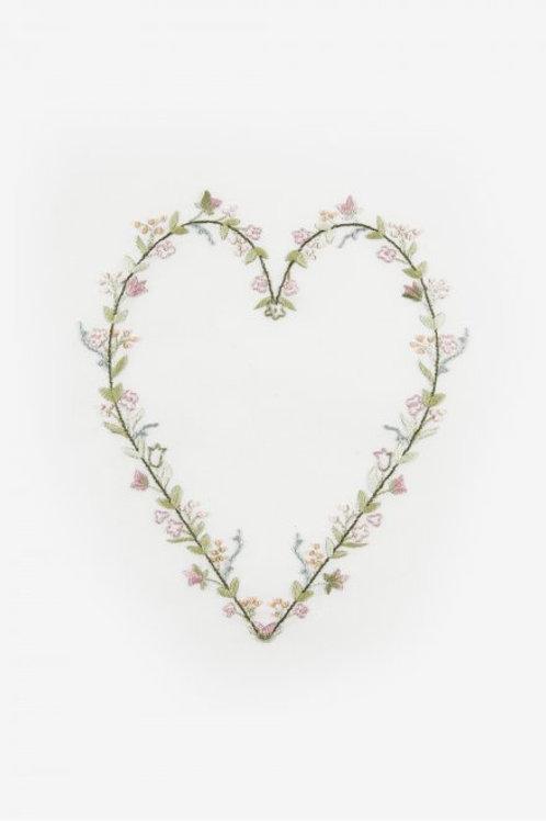 Cœur fleuri de Dmc
