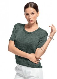 pull manches courtes dame