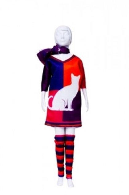 """Planche de vêtements pré-découpés """"Sally Cat"""" Dress your Doll"""