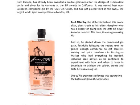 Paul Allamby's Canadian Spirit - Levenswater Spring 34 Gin