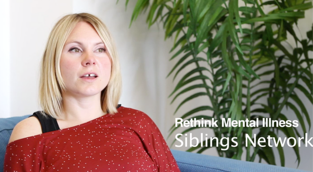 Interview for the Siblings Network, Rethink Mental Illness.  Part of a series of videos commissioned from the charity.