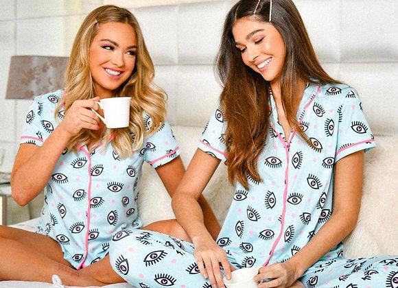 Pijama olho grego longo