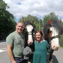 Meeting friends at Glasshouse Inn