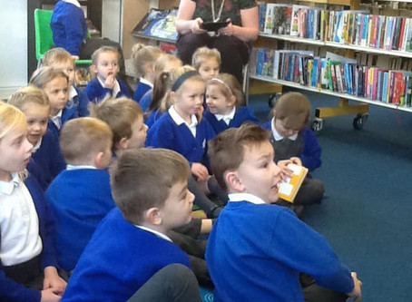 Reception class library visit