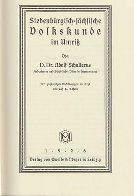 Adolf-Schullerus+Siebenbürgisch-sächsisc
