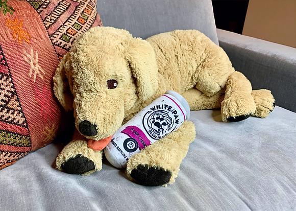 White Paw Plush Dog Toy