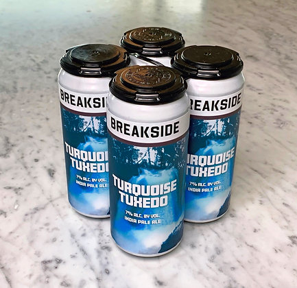 "Breakside/Ninkasi ""Turquoise Tuxedo"" Hazy IPA 16oz. 4pk."