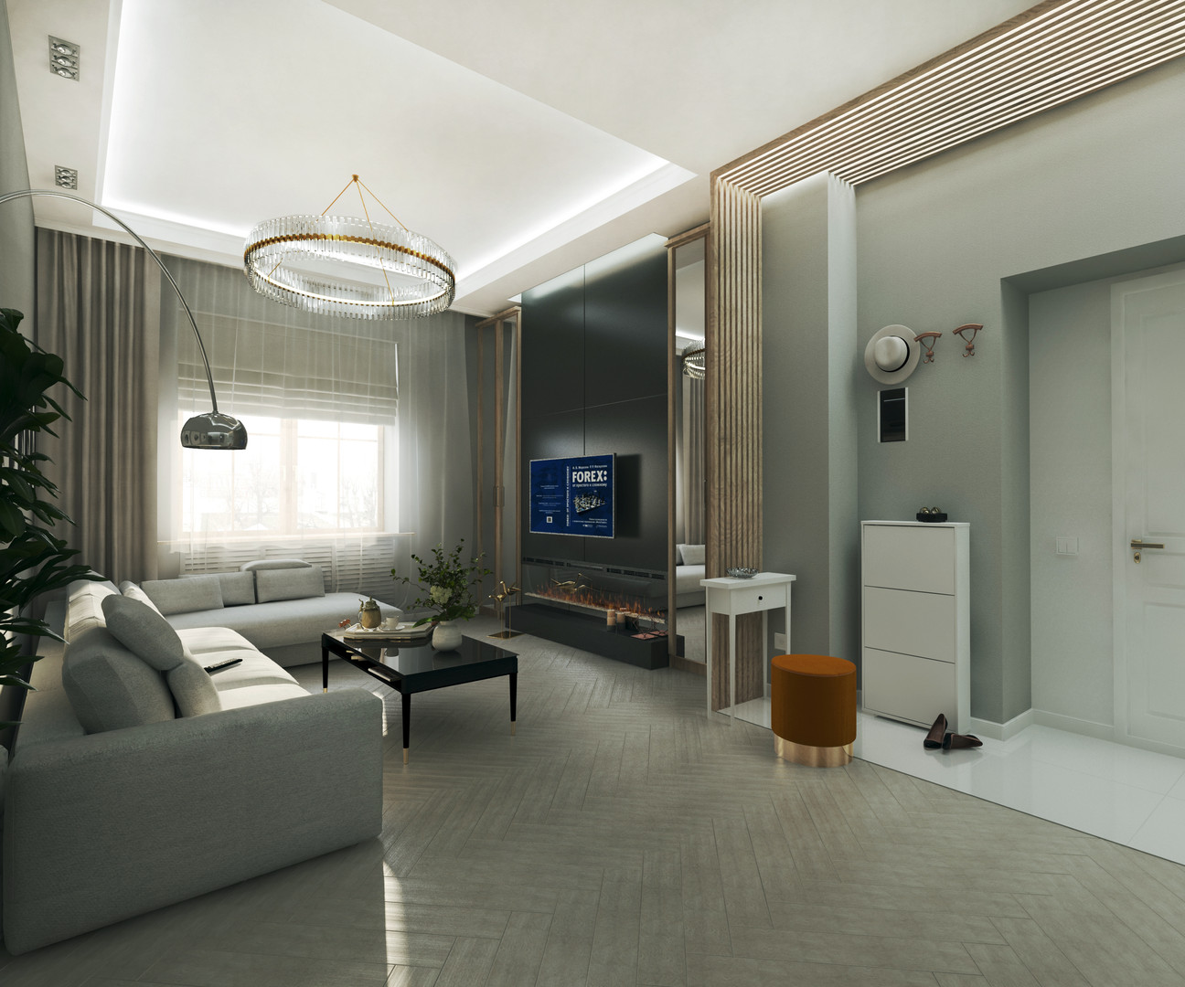 Светлая и просторная квартира в жилом доме района Якиманка