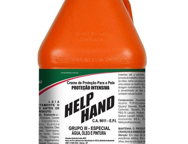 CREME PROTETOR PARA MÃOS HELP HAND G3 - HENLAU