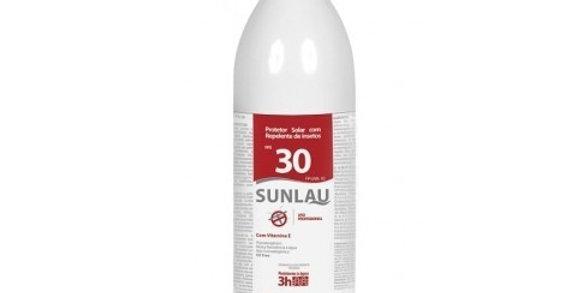 PROTETOR SOLAR SUNLAU FPS 30 COM REPELENTE DE INSETOS 1L – HENLAU